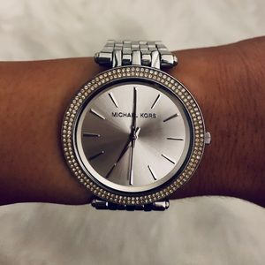 Michael Kors Darci Silver Tone Watch
